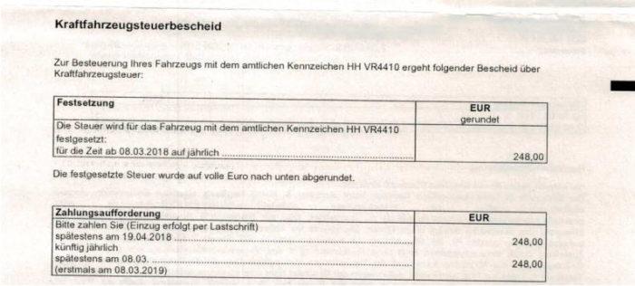 Kfz-Steuer